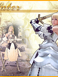 Fate / stay Saber noche Anmor White Outfit Cosplay