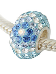Upscale-Grade Rhinestone Beads With Fine Silver Inner Tube(Mixed)