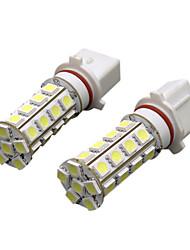 2pcs White P13W LED Bulbs 30 SMD 5050 Car Auto Fog