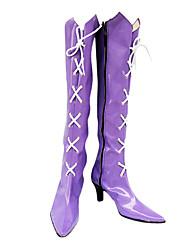 cómico ver. tomoe hotaru púrpura botas de cosplay
