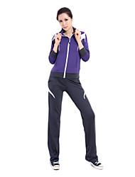 92% Mujer Manga Larga Chinlon Trajes Transpirabilidad suaves (jersey + pants)
