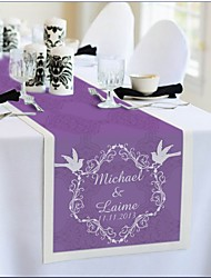 Table Centerpieces Personalized Reception Desk Table Runner - Pruple  Table Deocrations