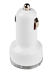 Double USB Car Charger for iPhone 5(White)
