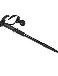 4-Section T Style Hiking Stick (Black)