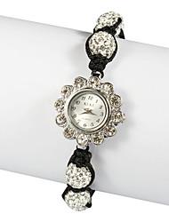 Charming Fabric with Crystal Quartz Dress Watch