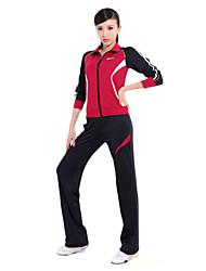92% das mulheres chinlon longas mangas Suits macios (camisola + calças)