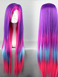 Lolita Wigs Punk Lolita Color Gradient Long Purple / Pink / Blue Lolita Wig 80 CM Cosplay Wigs Patchwork Wig For Women