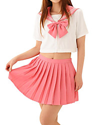 Sexy Girl Pink Candy Polyester School Uniform (2 Pieces)