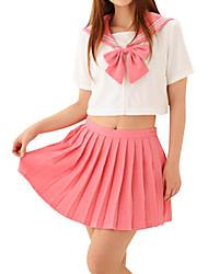 Sexy Girl Pink Doce Poliéster Uniforme Escolar (2 Unidades)