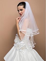 Three-tier Elbow Ribbon Edge Wedding Veil