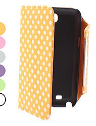 Modèle en cuir PU points avec fente pour carte pour Samsung Galaxy N7100 Note 2 (couleurs assorties)