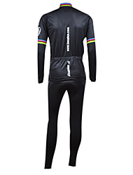 KOOPLUS® Cycling Jersey with Bib Tights Men's Long Sleeve Bike Breathable / Thermal / Warm / Windproof / Fleece Lining / WearableTights /