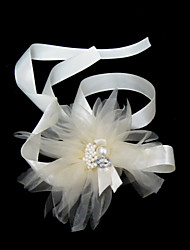 Women's Satin/Rhinestone/Imitation Pearl Headpiece - Wedding/Special Occasion Headbands