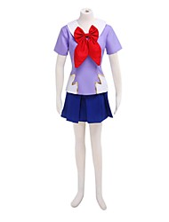 Anime Cosplay Costume Inspired by The Future Diary Gasai Yuno School Uniform VER. Cosplay Suits Patchwork Blue Purple Short Sleeve Top Skirt