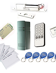 Single Door Controller-Kits mit IR-Tastatur Elektro Bolt, 10 EM-ID Card, Power Supply)