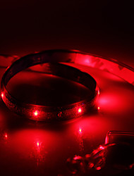 Waterproof 30cm 12-LED Red LED Strip Light (12V)