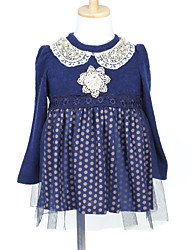A-line Ball Gown Princess Short / Mini Flower Girl Dress - Tulle Woolen Cloth Jewel with Lace Pearl Detailing