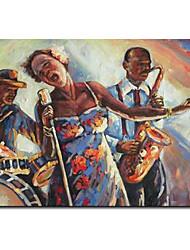 Pintado a mano Pintura al óleo Arte Popular Jazz 1211-PE0124