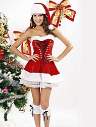 pizzo fantasia nastro di velluto rosso costumi di Natale (un formato)
