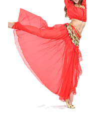Belly Dance Skirts Women's Training Performance Chiffon Split Front 1 Piece Dropped Skirt
