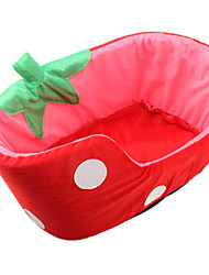 Lovely Strawberry Style Pet Bed (Red,S-L)