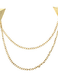 Z&X®  Punk Triangle Collar Chain Necklace
