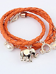Women's Summer Look Animal Woven Layered Bracelet