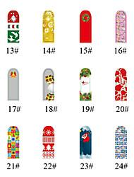 16pcs de Gift van Kerstmis Full Cover Plastic Nail Art Nail Sticker