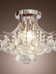 moderna lámpara de araña de cristal de 3 luces
