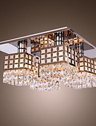 lampadario di cristallo di vita moderno acciaio 4 luci