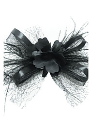 Women's Satin / Feather / Tulle Headpiece-Special Occasion Fascinators / Birdcage Veils