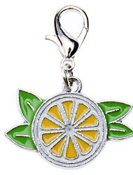 Fresh Lemon Style Collar Charm for Dogs Cats