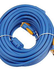 Gold Plated VGA Male to Male Cable (10m)