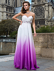 Prom/Formal Evening/Military Ball Dress Sheath/Column Strapless/Sweetheart Floor-length Chiffon