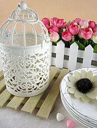 decoración de la boda de hierro de época linterna vela