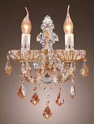 Crystal Wall Sconces,Modern/Contemporary E12/E14 Metal