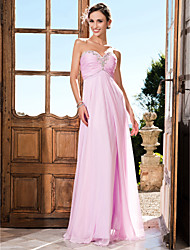 TS Couture Prom Formal Evening Military Ball Dress - Open Back Sheath / Column Strapless Sweetheart Floor-length Chiffon withBeading