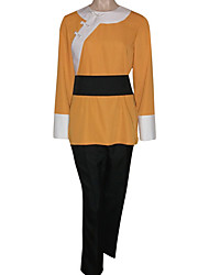 Inspired by Ranma Ryouga Hibiki Anime Cosplay Costumes Cosplay Suits Patchwork Orange Long Sleeve Coat / Pants / Belt
