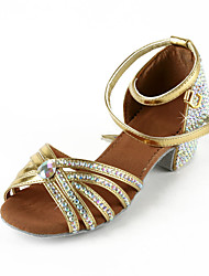Women's Leatherette / Rhinestone Upper Ankle Strap Latin / Salsa Dance Performance Shoes (More Colors)