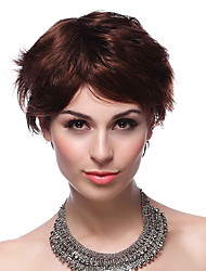 Elegant Capless 100% Human Hair Short Brown Hair Wigs