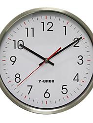 "11.75 ""h mur style moderne horloge 48d acier inoxydable"