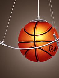 Basketball Featured Chandelier in Warm Light