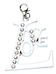 Unique Design Love Style Collar Charm for Dogs Cats