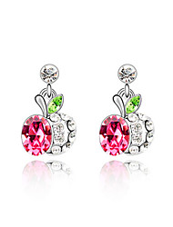 Women's Apple Crystal Studs