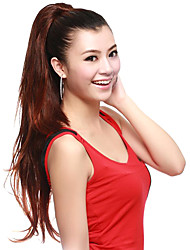 Synthetic Straight Extra Long Auburn Ponytail Hair Pieces