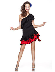 Women's Viscose With Ruffles Latin Dance Top And Skirt More Colors