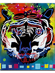 Hand Painted Oil Painting Animal Tiger 1211-AN0031