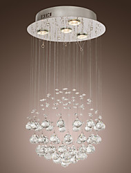 SL® Chandelier Luxury Modern Crystal Bulb Included 4 Lights