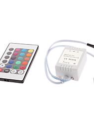 24 teclas do controle remoto para luzes LED RGB tira (12v)