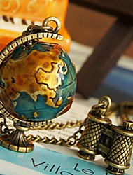 Women's Globe Telescope Necklace